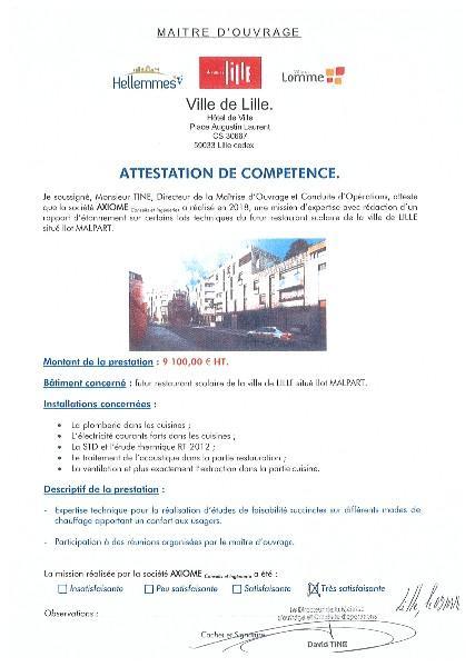 VILLE DE LILLE - restaurant scolaire situé Ilot MALPART