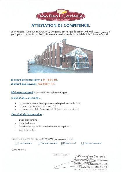 VAN DEN CASTEELE - Saint-Sylvestre-Cappel