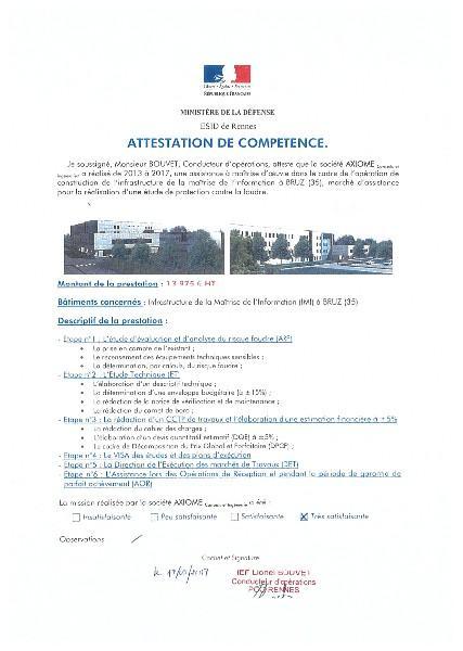 MINISTERE DE LA DEFENSE - ESID de Rennes - foudre