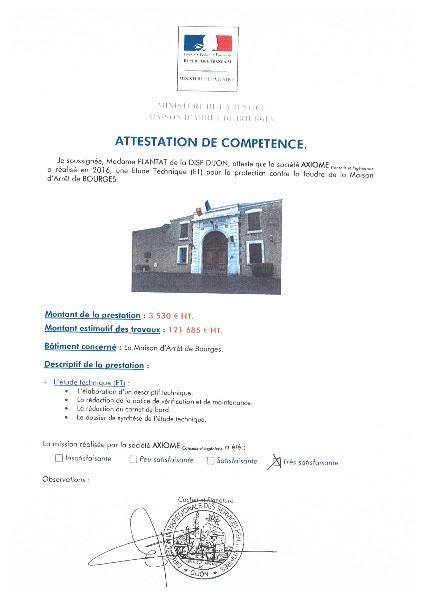 MINISTERE DE LA JUSTICE - Maison d'arrêt de BOURGES