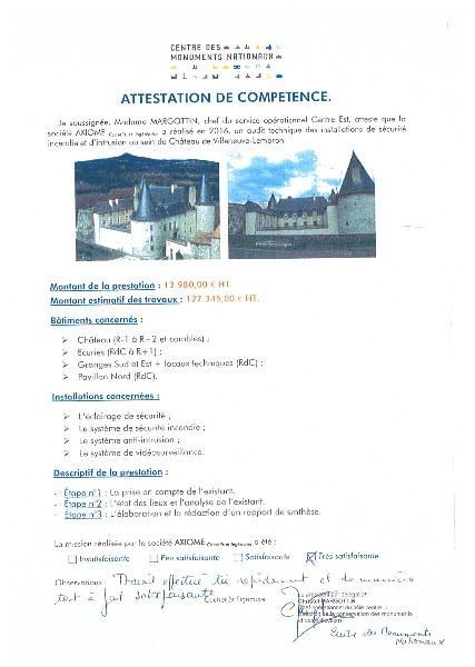 Centre des Monuments Nationaux - SSI Château de VILLENEUVE-LEMBRON