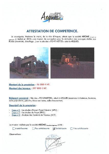 VILLE D'ARQUES - FONTINETTES à ARQUES