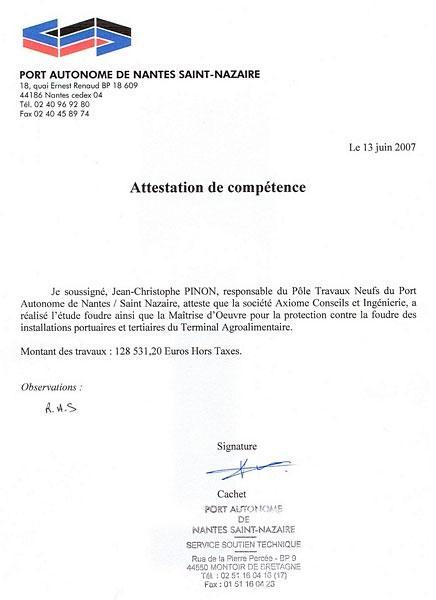 Port Autonome de Nantes Saint Nazaire - Foudre