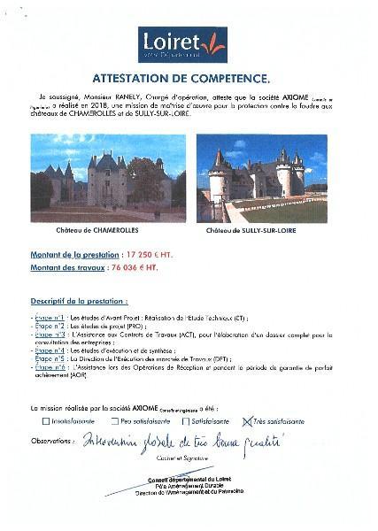 Département du LOIRET - Châteaux de CHAMEROLLES et de SULLY-SUR-LOIRE
