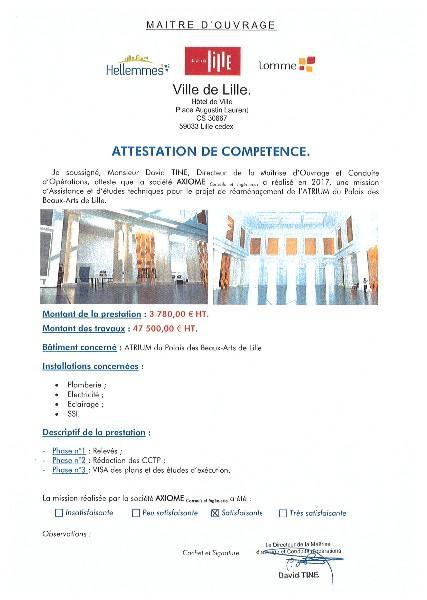VILLE DE LILLE - ATRIUM du Palais des Beaux-Arts de LILLE